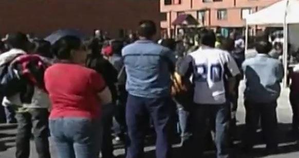 Residentes se quejan y protestan ante el Alcalde de Soacha.