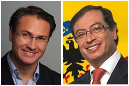 Juan Carlos Nemocón, alcalde de Soacha y Gustavo Petro, alcalde Mayor de Bogotá.