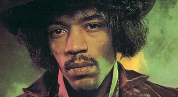 Jimi Hendrix convertido en una leyenda de la música.