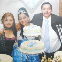 El día más especial para Leydi Lorena y su familia fue cuando cumplió sus 15 años.