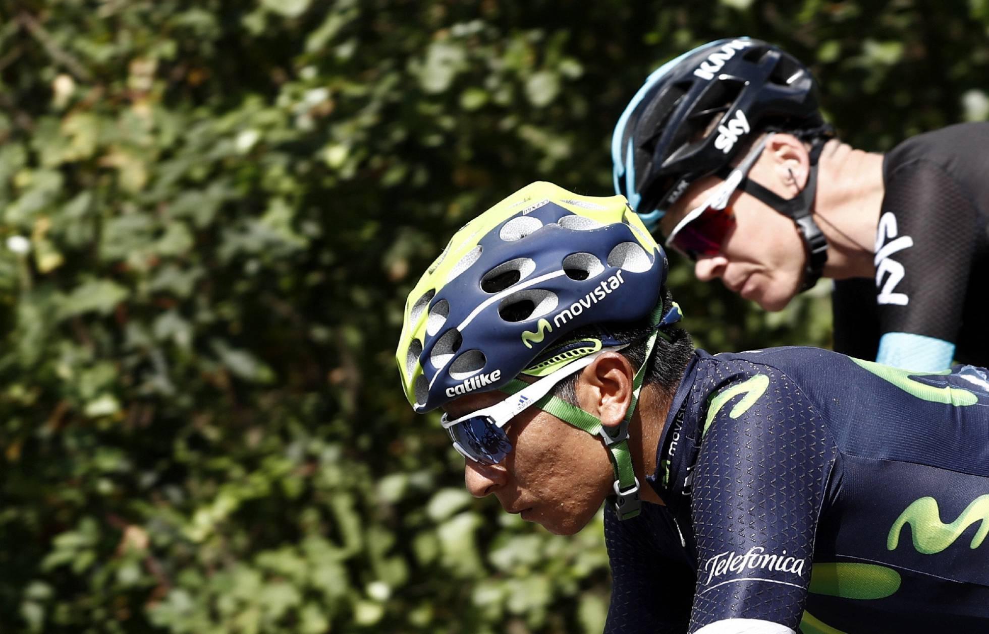 Nairo Quintana y Chris Froomo los protagonistas de la 10ª etapa de la Vuelta. a España.