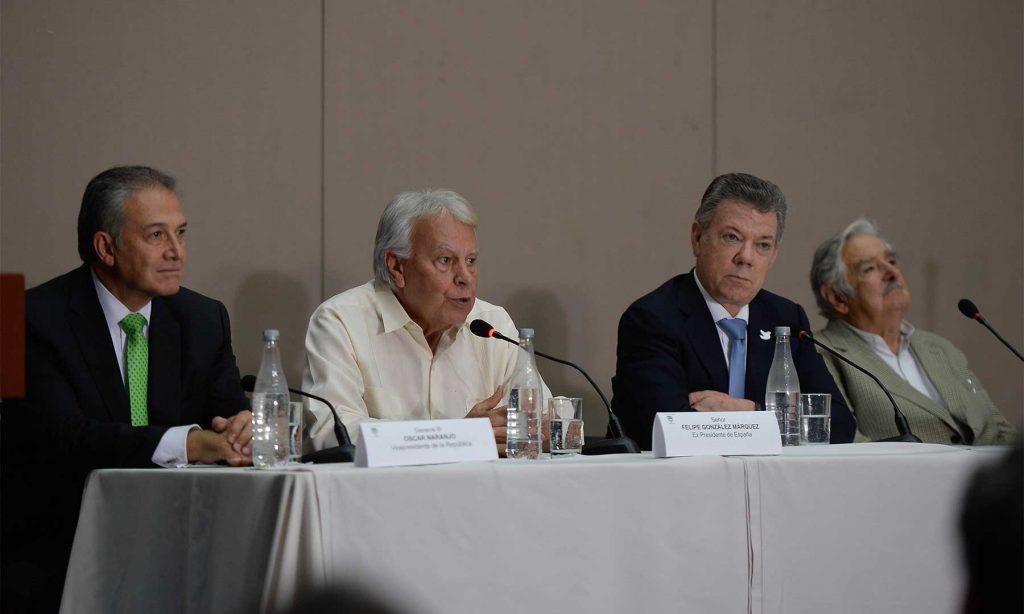 El expresidente Felipe González, dijo estar firmemente a favor de la reconciliación, en el evento de instalación del Componente Internacional de la Comisión de Seguimiento, Impulso y Verificación a la Implementación de los Acuerdos de Paz.