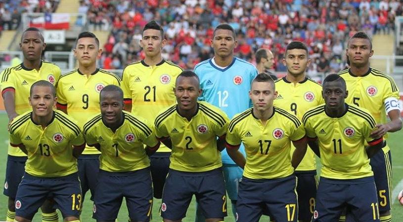 Selección Colombia Sub-17 que participó en el Campeonato Sudamericano de la categoría.