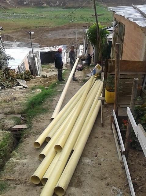 Ayudas para la construcción de un alcantarillado.
