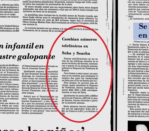 Edición del periódico El Tiempo del 13 de agosto de 1982.