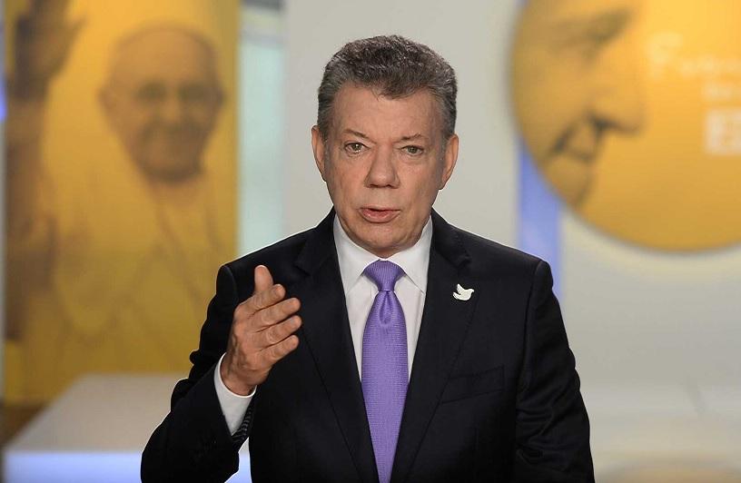 El Presidente Juan Manuel Santos anunció este lunes un acuerdo para declarar un cese al fuego bilateral con el Eln.