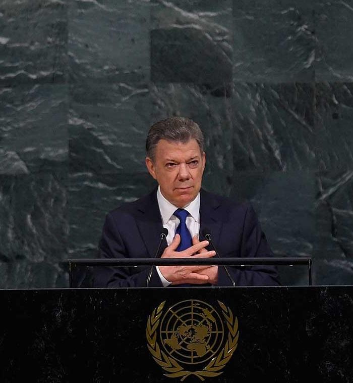 """En la Asamblea General de la ONU, el Presidente Santos consideró que la vulnerabilidad frente al cambio climático es el """"más apremiante desafío de nuestros tiempos""""."""