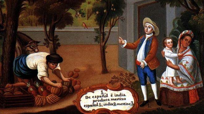 La población mestiza es la que predomina en la mayor parte de lo que era el Virreinato de la Nueva España: México y Centroamérica.