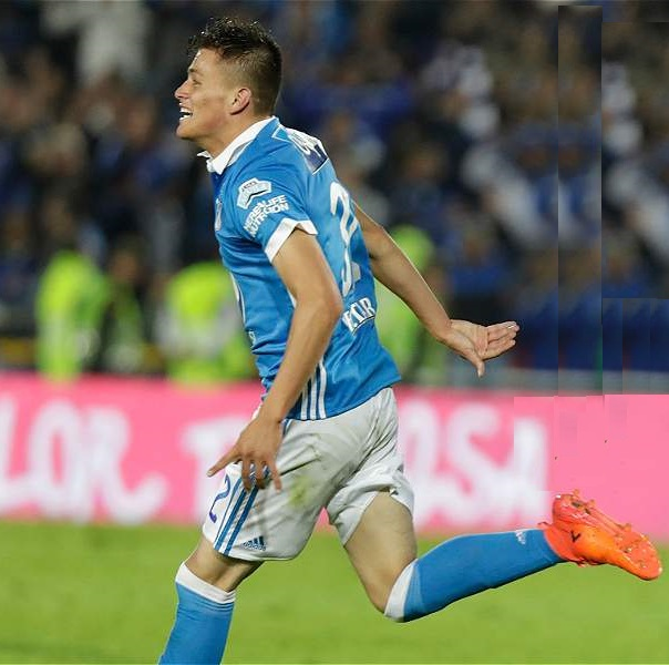 Christian Huérfano anotó su primer gol como profesional en la victoria 5-1 frente al Deportivo Cali.