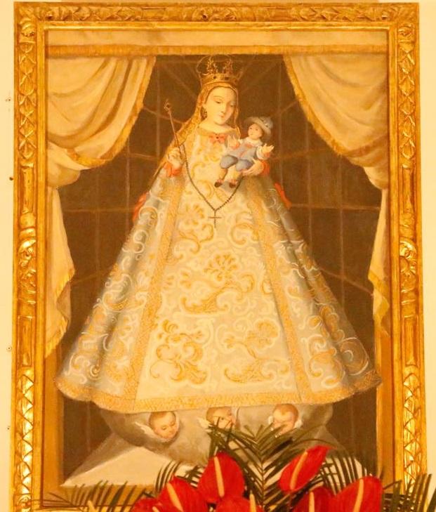 La imagen de Nuestra Señora del Rosario, patrona del municipio de La Calera.