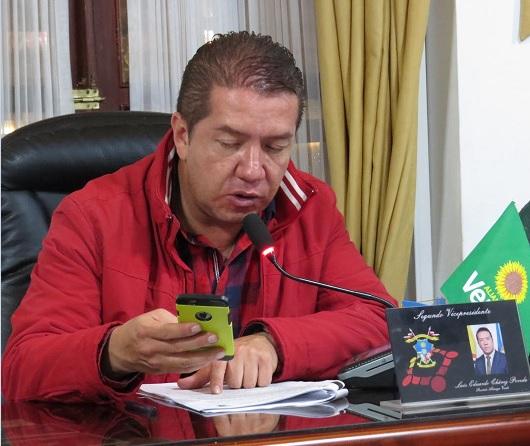 Luis Eduardo Chávez, ponente del proyecto de Acuerdo del presupuesto de Soacha para el 2018.