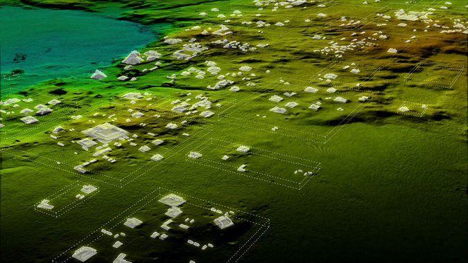 Las estructuras hasta ahora desconocidas que fueron registradas por tecnología líder. Foto: Wild Blue Media/National Geographic