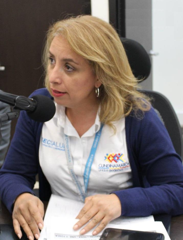 Ana Lucia Restrepo Secretaria de Salud de Cundinamarca