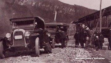 Camino cercano a la Planta de El Charquito en 1927.