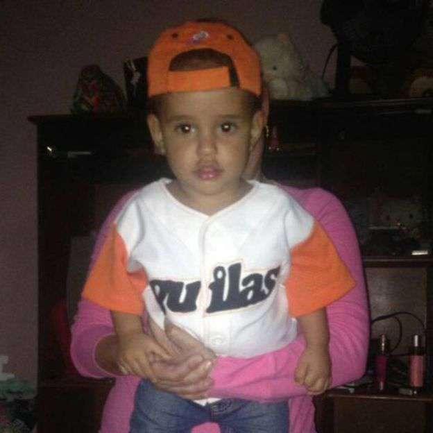 El hijo de Arlyn y Gustavo, Matheo, se quedó en Venezuela. Foto: Gustavo Méndez.