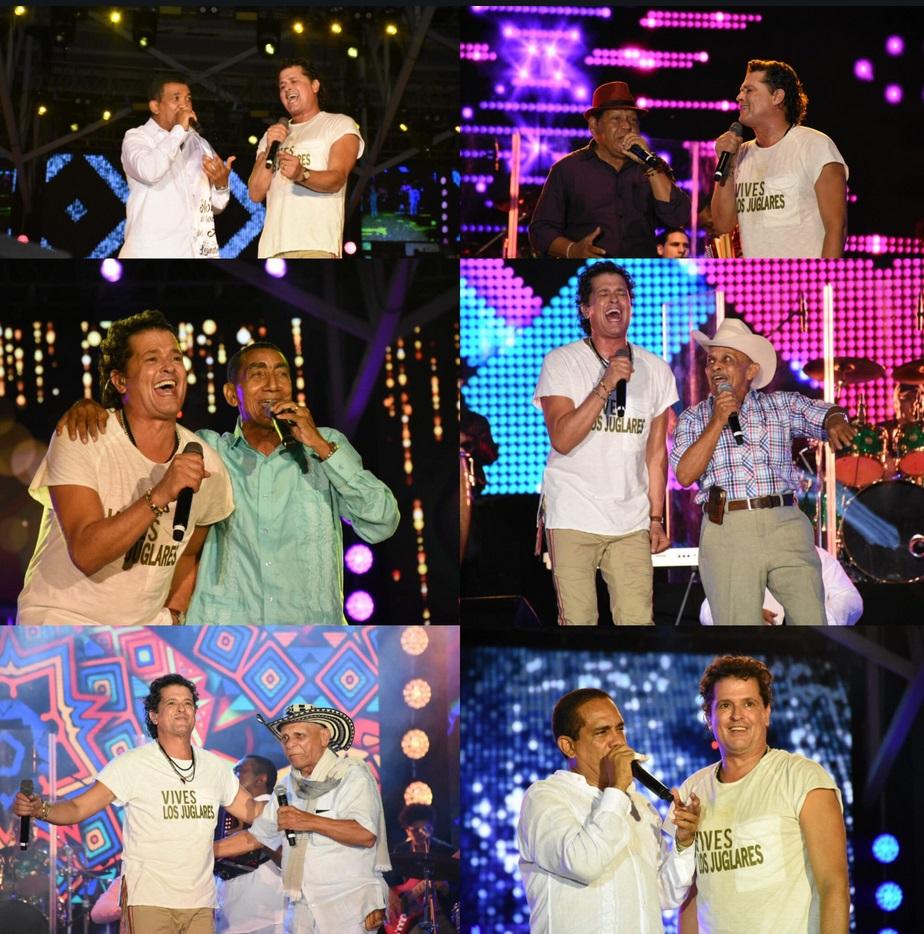 En el show inaugural los juglares también tuvieron la oportunidad de cantar al lado de Carlos Vives.