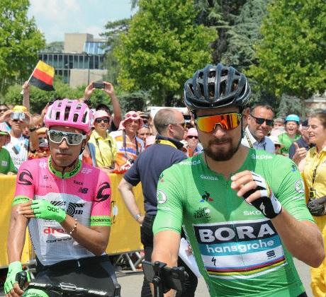 Daniel Felipe Martinez y Peter Sagan.
