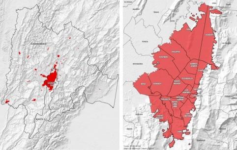 Cobertura geográfica de la Encuesta Multipropósito 2017. Cundinamarca y Bogotá.