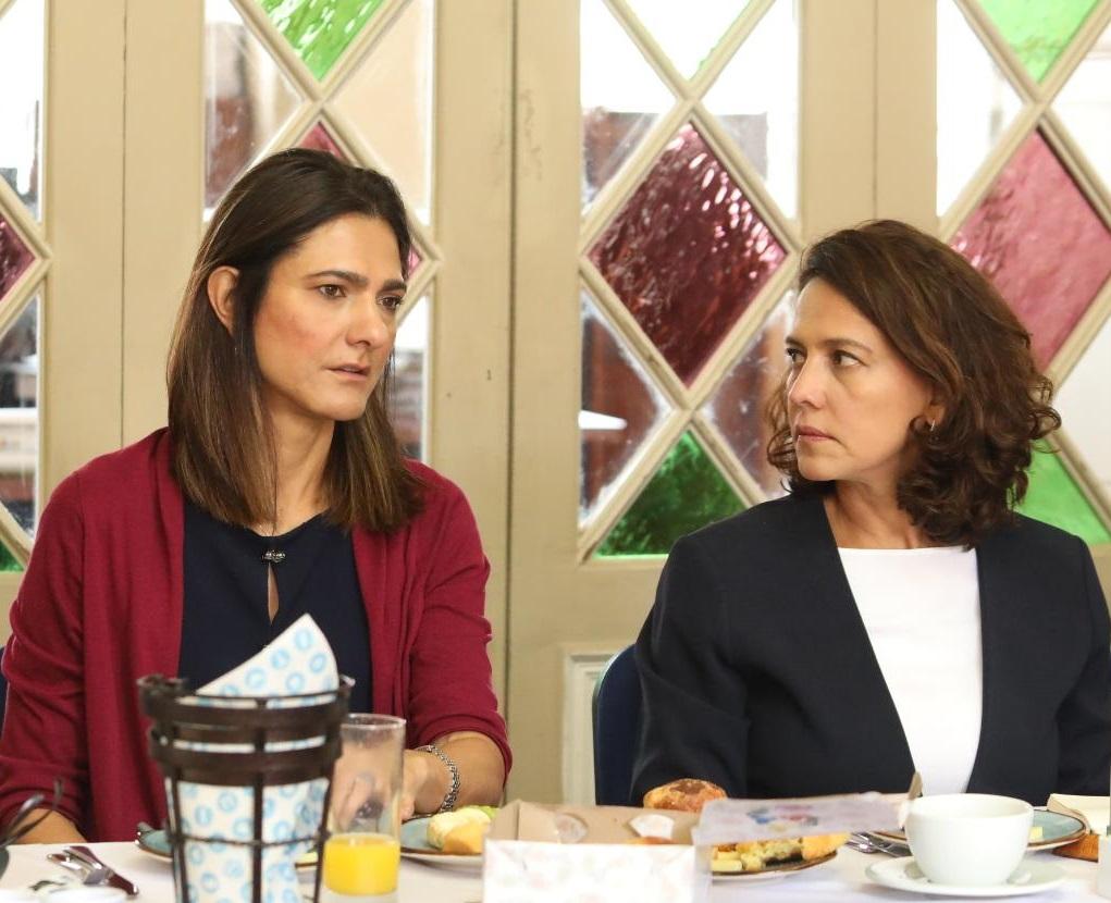 Las ministras Ángela María Orozco (Transporte) y Nancy Patricia Gutiérrez (Interior).