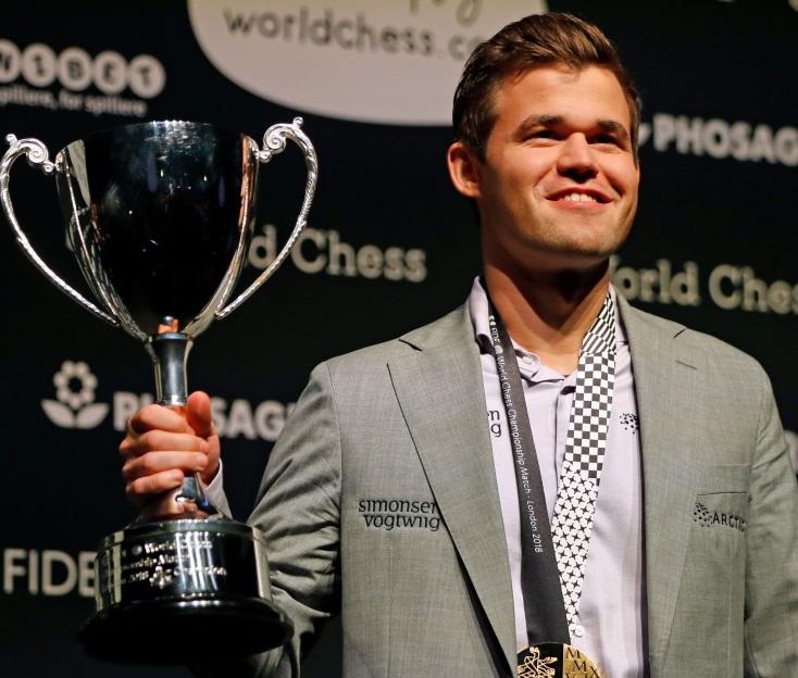 Magnus Carlsen, campeón Mundial de Ajedrez