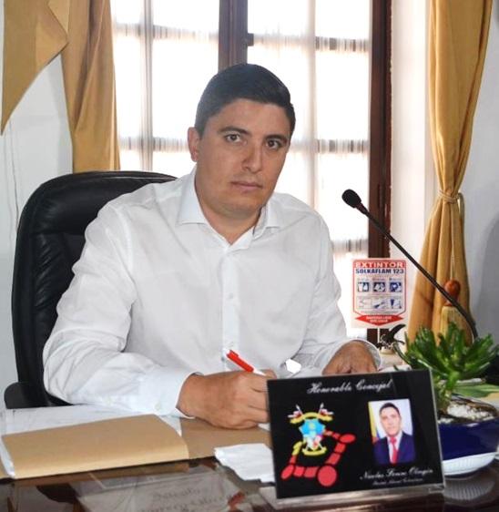 Nicolás Forero, ponente del proyecto de Acuerdo del Presupuesto del municipio de Soacha para el año 2019.