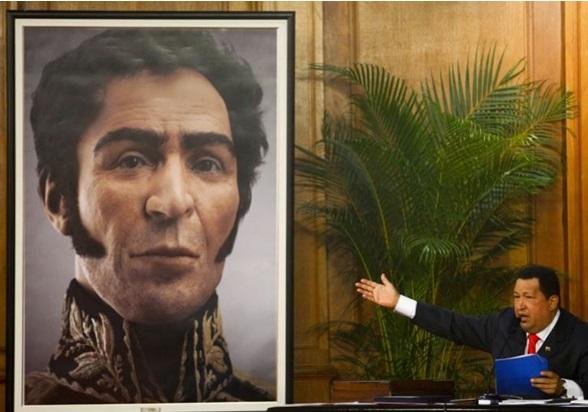El presidente venezolano, Hugo Chávez, dio a conocer una imagen en 3D del rostro del libertador Simón Bolívar.