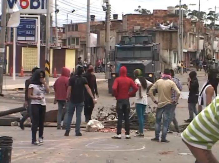 Fuertes protestas en Sibaté por el Paro Nacional Agrario