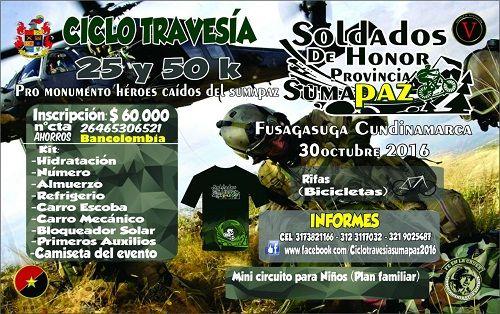 """Ejército organiza """"Ciclo Travesía Soldados de Honor"""" en Fusagasugá"""