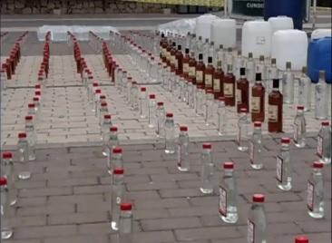 Policía incautó más de 3 mil botellas de licor adulterado en Soacha