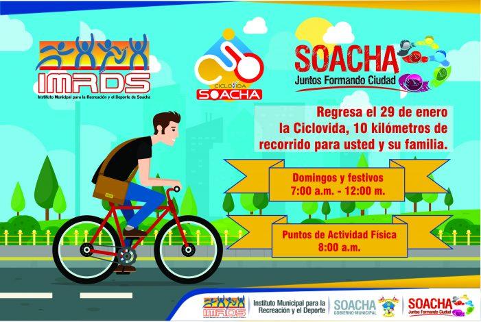 Amplian a 10 km el recorrido de la Ciclovía de Soacha