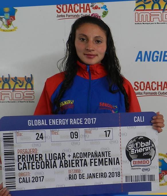 La atleta Angie Julieth Moreno ganó la Global Energy Race de Cali
