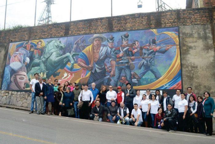 Concurso de grafiti en Paz del Río (Boyacá)