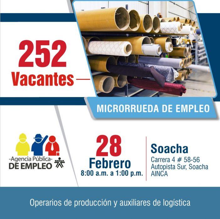 SENA ofrece 252 oportunidades de trabajo para Soacha