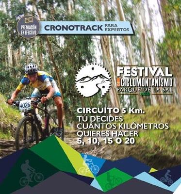 Este domingo, Festival de Ciclomontañismo en Parque de la Sal de Zipaquirá