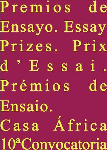 10ª Convocatoria de los Premios de Ensayo Casa África