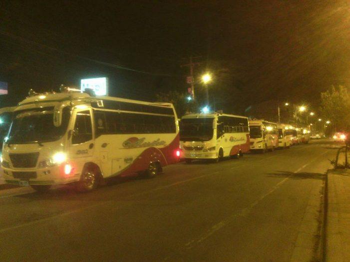 Parálisis total en Sibaté por paro del transporte intermunicipal