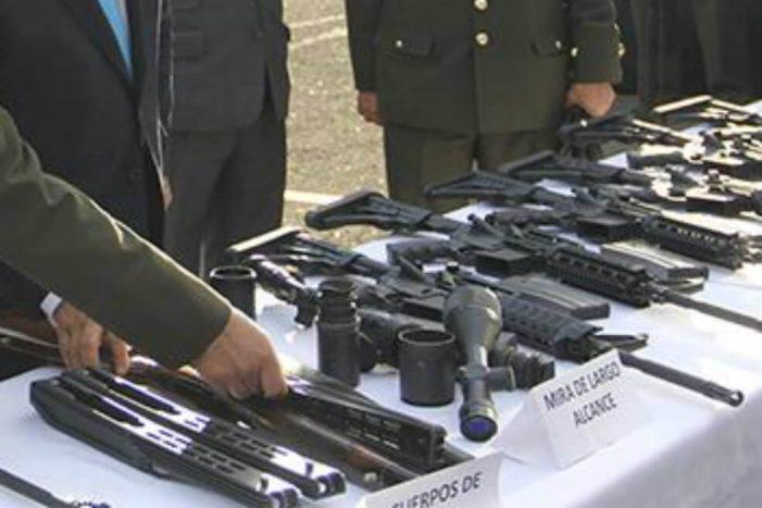 La Policía Nacional desmantela taller de ensamble de armas en Soacha