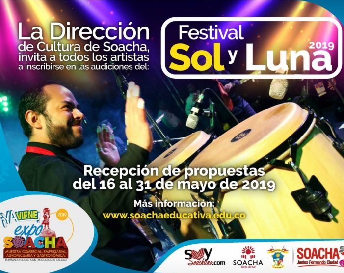 Convocan a artistas de Soacha a audiciones para participar en el Festival Sol y Luna 2019