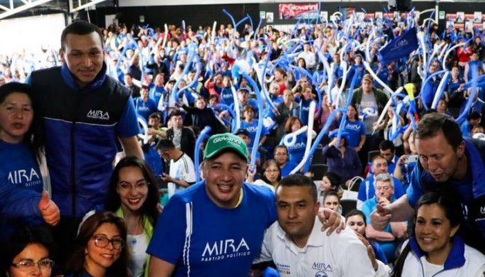 El partido MIRA adhiere a la campaña de Giovanni Ramírez