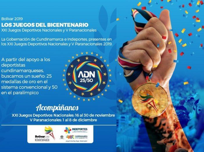 451 atletas representarán a Cundinamarca en los Juegos Deportivos Nacionales Bolívar 2019