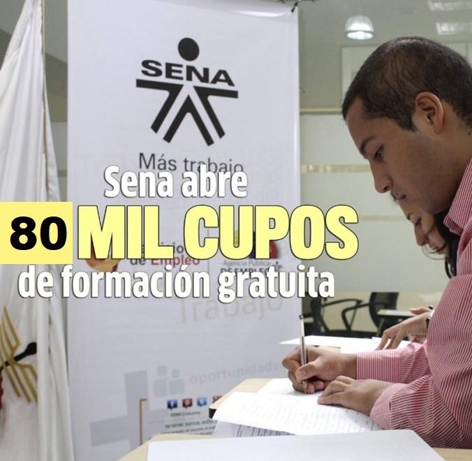 El SENA abre convocatoria con 80 mil cupos de formación para el 2020