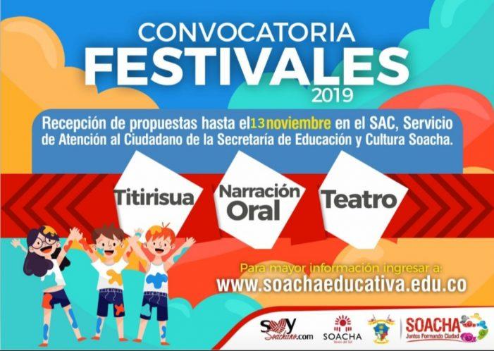 Abierta convocatoria para inscribirse en las audiciones de los Festivales de fin de año en Soacha