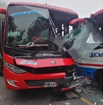 Accidente de tránsito en la vía Sibaté -Fusagasugá