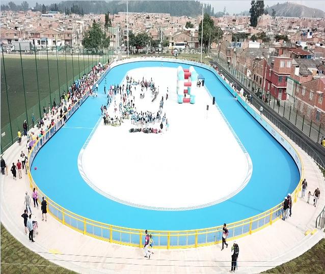 IMRDS inaugura primera pista profesional de patinaje de Soacha