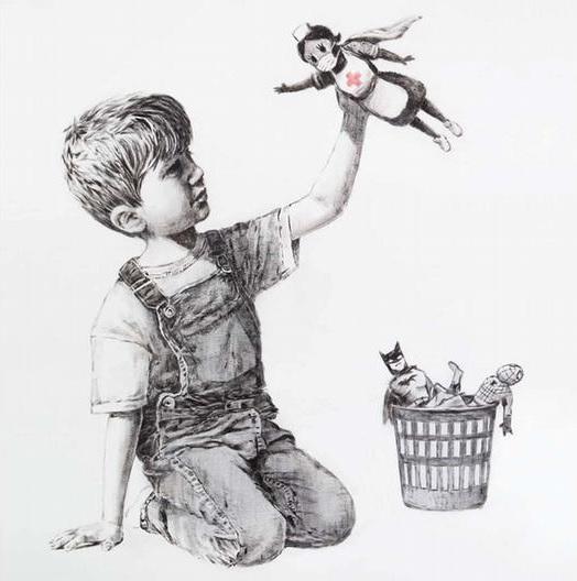 Banksy rinde homenaje al personal de salud