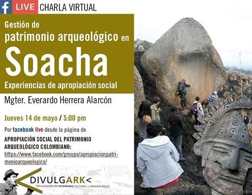 Charla virtual sobre el Patrimonio arqueológico de Soacha en las redes sociales
