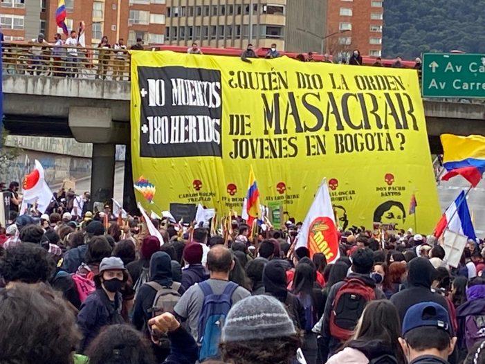 Colombia vivió la primera gran marcha de protesta tras cuarentena