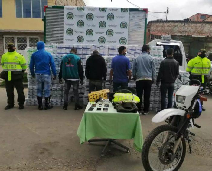 Capturan en Soacha a 12 personas que habían robado cargamento de papel higiénico
