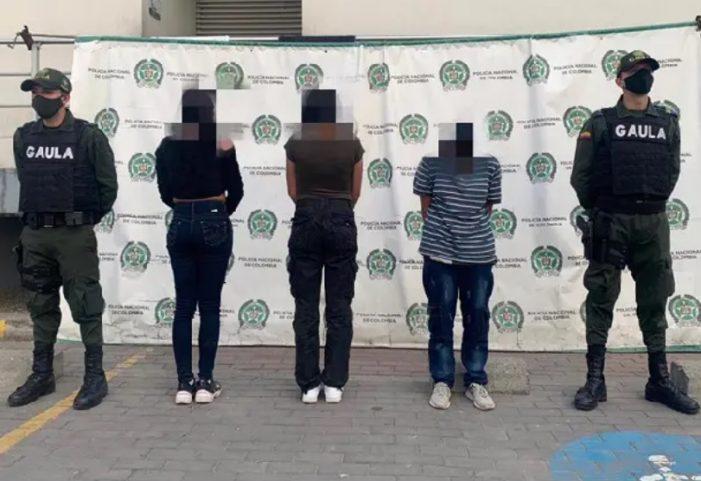 Capturadas en Soacha tres personas sindicadas de extorsionar a menor de edad