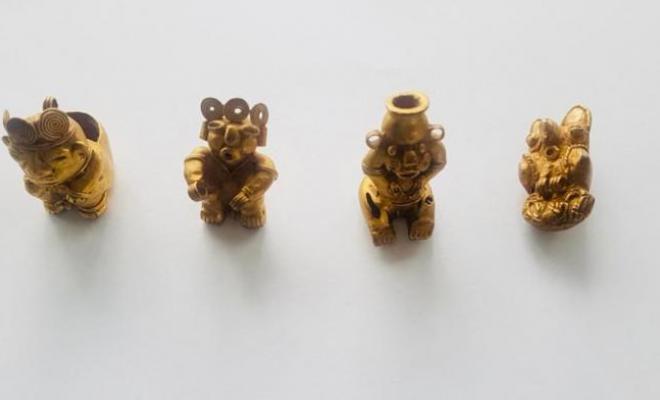Policía de Colombia y Ecuador recupera piezas arqueológicas de la cultura Tayrona y San Agustín